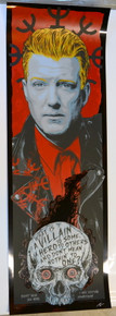 JOSH HOMME - QUEENS OF THE STONE AGE - RHYS COOPER - POSTER - BLACK FOIL