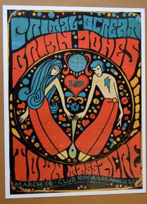 BRIAN JONESTOWN MASSACRE - 2009 - CLUB NOKIA - LOS ANGELES - POSTER - DARREN GREALISH