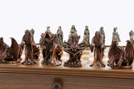 Dal Rossi Lord of the Rings Themed Pewter Chess Pieces (L2221DR) set on board (not included)