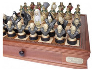 Dal Rossi Lord of the Rings Themed Chess Pieces (L2237DR) closeup - board not included
