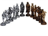 Dal Rossi Medieval Pewter Chess Pieces 80mm (L2222DR) pieces
