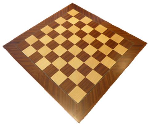 Dal Rossi 40cm Mahogany / Maple Chess Board (L7812DR)