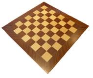 Dal Rossi 50cm Mahogany/Maple Chess Board