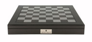 Dal Rossi 50cm Carbon Fibre Finish Chess Board with Storage Compartment (Board Only) (L2266DR) board