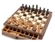 Dal Rossi Wooden Chess and Checkers 38cm Set (L2205DR)