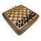 Rex Noir Square Magnetic Travel Chess Set 25cm with drawer (SQU-S-25) from above