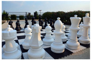 Giant Chess 64cm Giant Chess Outdoor Set (Pieces only) (GC641) pieces on board