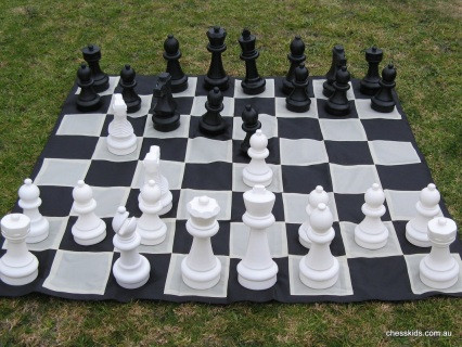 Giant Chess 30cm Garden / Outdoor Chess Set (GC321) full set