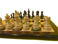 Rex Noir Paris 100mm Rosewood / Boxwood Chess Pieces Only (PAR-R-10) on board 3