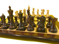 Rex Noir Turin 105mm Rosewood / Boxwood Triple Weighted Pieces Only (TUR-R-11) on board