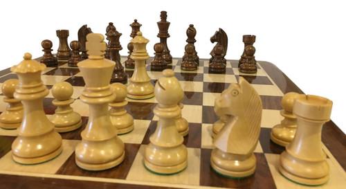 Rex Noir Elite 95mm Sheesham / Boxwood Chess Pieces Only (ELI-S-95)