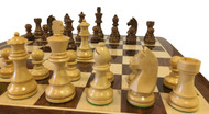 Rex Noir Elite 95mm Sheesham / Boxwood Chess Pieces Only (ELI-S-95)
