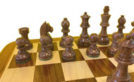 Rex Noir Elite 85mm Sheesham / Boxwood Chess Pieces Only (ELI-S-85)