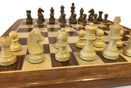 Rex Noir Elite 75mm Acacia / Boxwood Chess Pieces Only (ELI-S-75)