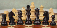 Rex Noir Genius 95mm Ebony / Boxwood Chess Pieces Only (GEN-E-95)