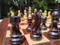 Rex Noir Expert 85mm Rosewood / Boxwood Chess Pieces Only (EXP-R-85) dark 2