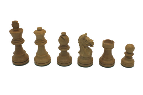 Rex Noir Expert 75mm Rosewood / Boxwood Chess Pieces Only (EXP-R-75)
