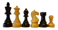 Rex Noir Expert 85mm Ebony / Boxwood Chess Pieces Only (EXP-E-85)