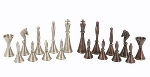 Dal Rossi Metal Staunton Chess Pieces (L2234DR) pieces