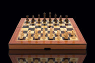 Dal Rossi Brass Cap Chess Pieces (L3052DR) fully open set