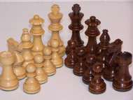 Dal Rossi 95mm Sheesham Double Weighted Chess Pieces (L3020DR)
