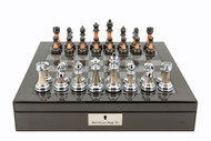 Dal Rossi Metallic Marble Look Chess Set (L2067DR & L2226DR) full board