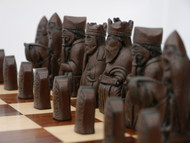Berkeley Chess Isle of Lewis (Brown) Chessmen pieces (BC2001)