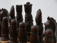 Berkeley Chess Victorian (Brown) Chessmen pieces (BC2003)
