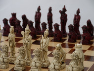 Berkeley Chess Red Mandarin Chessmen