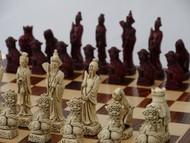 Berkeley Chess Red Mandarin Chessmen