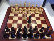 Rex Noir Turin Bud Rosewood Chess Set (Board and Pieces)