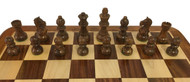 Rex Noir Expert 75mm Acacia / Boxwood Chess Pieces Only (EXP-S-75)