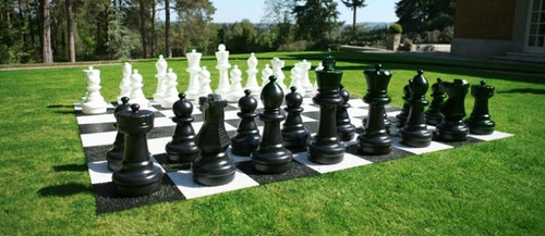 Giant Chess Outdoor Plastic Chess Board (Board Only) (GC643) - shown with pieces (board only)