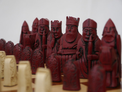 Berkeley Chess Isle of Lewis (Red) Chessmen pieces (BC3001)