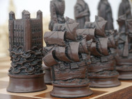 Berkeley Chess Elizabethan (Brown) Chessmen pieces (BC2010)