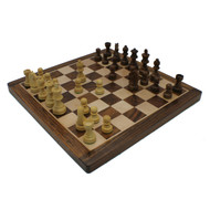 Rex Noir Elite 35cm Sheesham Chess Set (DIS-S-35 & ELI-S-68) set angle moves