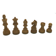 Rex Noir Expert 85mm Sheesham / Boxwood Chess Pieces Only (EXP-S-85) light pieces