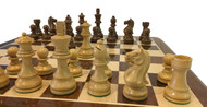 Rex Noir Expert 95mm Acacia / Boxwood Chess Pieces Only (EXP-S-95)
