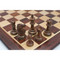 Rex Noir REY-S-95 Sheesham and Boxwood Chess Pieces on board