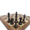 Rex Noir Prestige International Design Metal / Brass Chess Pieces (PRE-INT-83) dark
