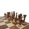 Rex Noir Prestige Roman Series Brass Chess Pieces (PRE-ROM-85) dark on board