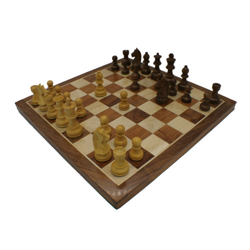 Rex Noir Wooden Chess and Checkers Set (DISPACK1)