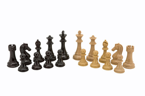 Dal Rossi Italy Wood Grain Look Chess Pieces 110mm Chess Pieces ONLY (L3225DR)