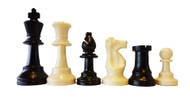 95mm Plastic Chess Pieces (Double Weighted)