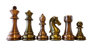 Dal Rossi 105mm Bronze/Copper Colour Chess Pieces