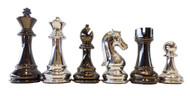 Dal Rossi 105mm Silver / Titanium Colour Chess Pieces (L3224DR)