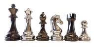 Dal Rossi 105mm Silver / Titanium Colour Chess Pieces (L3224DR)
