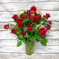 2 Dozen Red Roses Vase Arrangement