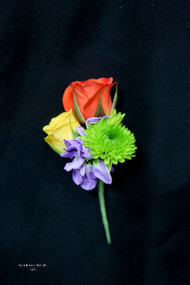 Mixed Color Boutonniere