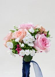 Pastel roses and phlox.